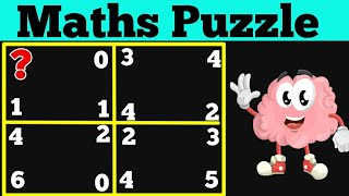Amazing Maths Puzzle || H๐w to solve square puzzle || Find the missing number
