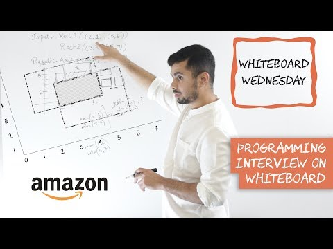Amazon Coding Interview - Overlapping Rectangles - Whiteboard Wednesday