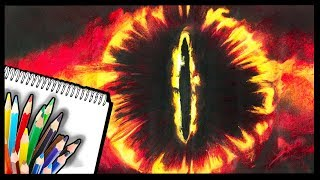 How to Draw EYE of SAURON - Lord of the Rings DRAWING