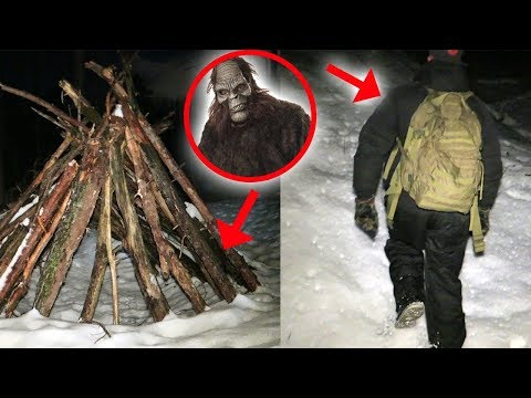 I RETURNED TO BIGFOOT FOREST AND FOUND THIS! (SCARY SNOWMAN)