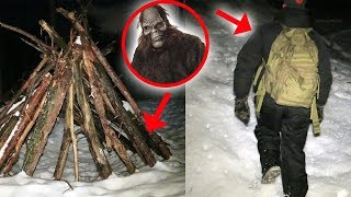 I RETURNED TO BIGFOOT FOREST AND FOUND THIS! (SCARY SNOWMAN) | MOE SARGI
