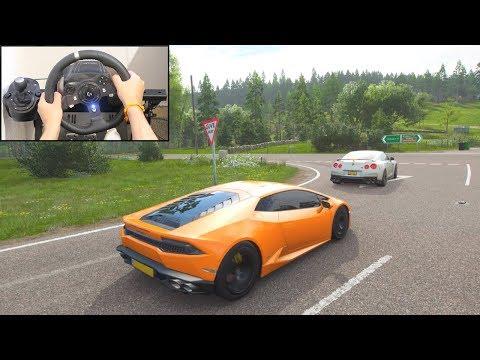 Forza Horizon 4 Lamborghini Huracan (Logitech G920 Steering Wheel) Gameplay thumbnail