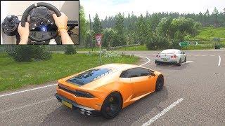 Forza Horizon 4 Driving Like A BOSS (Logitech g920 Steering Wheel) Lamborghini Huracan Gameplay