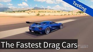 Forza Horizon 3: Fastest Drag Cars Testing