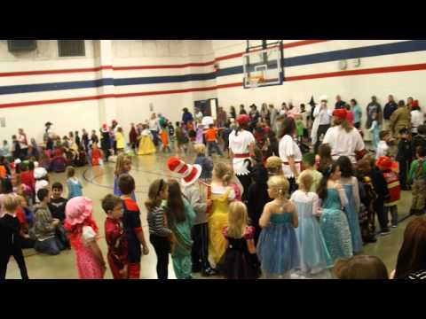 Character Parade at Mulberry Creek Elementary School, Clip 2 of 3