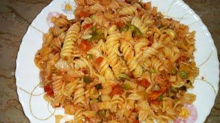Masala Pasta recipe - Pakistani style Pasta recipe by cooking with rajput -Veg Masala Pasta