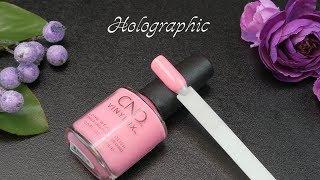 лак CND Vinylux Prismatic 313 Holographic розовый лепесток, 15 мл