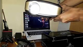 Unboxing projector Cheerlux C6 , wireless/wifi + Tv tuner murah