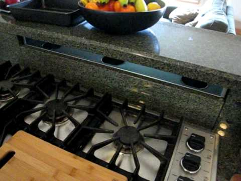 Custom Granite Kitchen Stove Downdraft