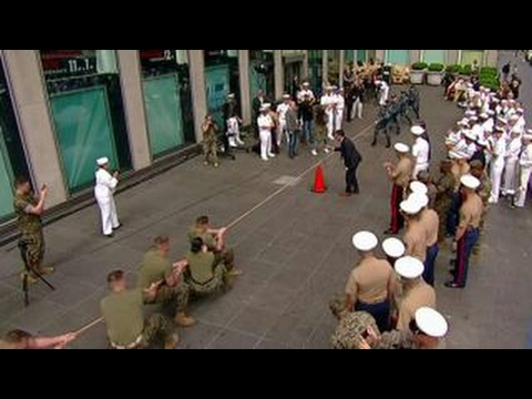 Fleet Week tug-of-war: Navy vs. Marines