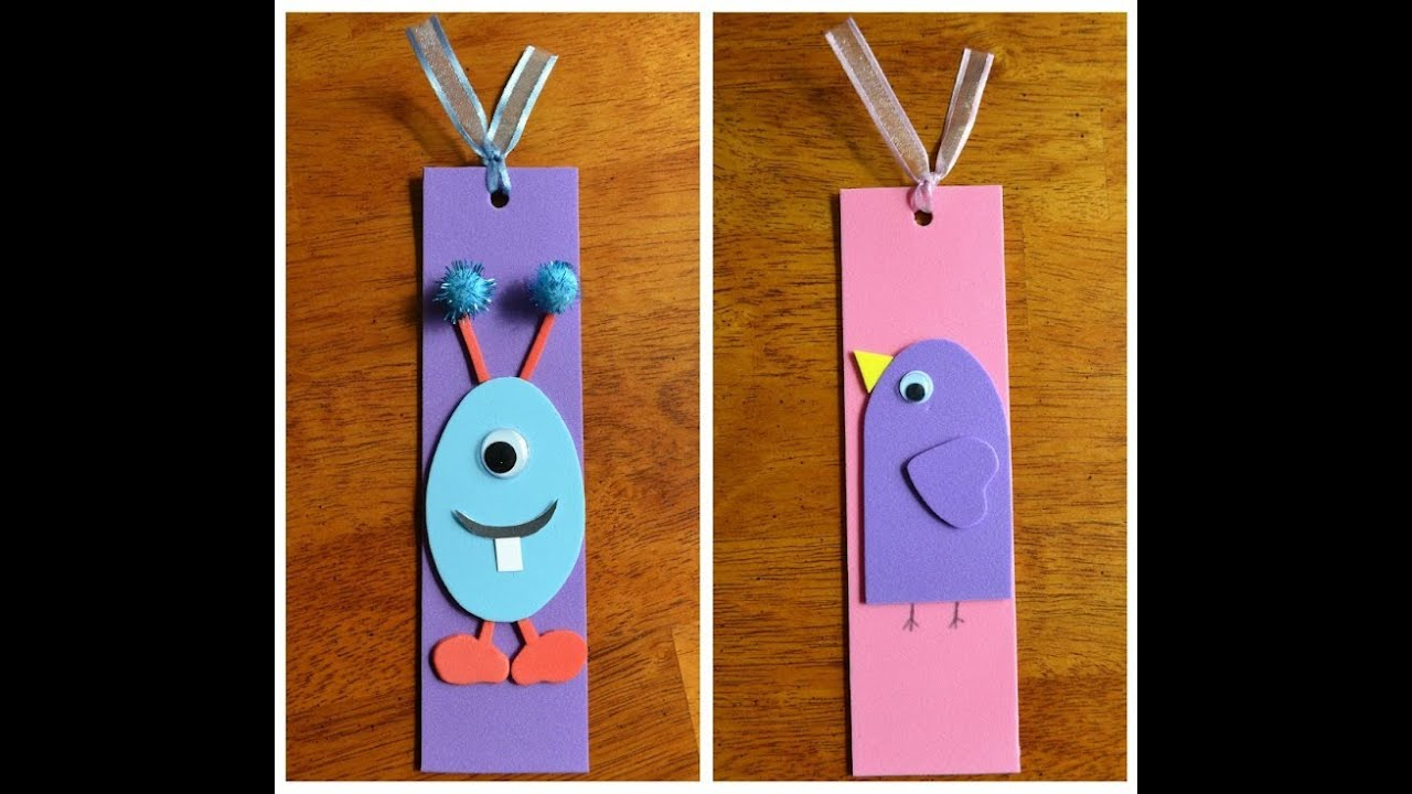 How to make a paper bookmark youtube How to make a simple bookmark