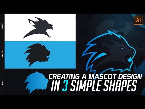 Illustrator Tutorial: Creating a Mascot Logo Design in 3 Shapes