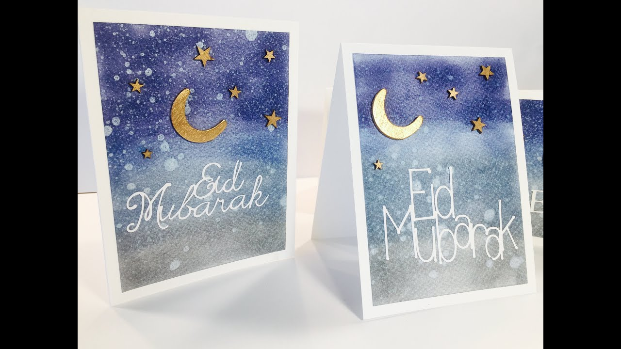 How To Make Eid Cards  Youtube
