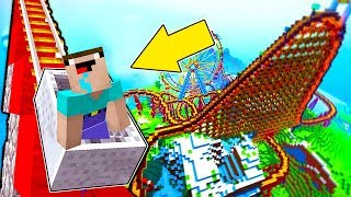 Minecraft NOOB vs PRO :  WHICH ROLLER COASTER WILL NOOB CHOOSE IN THEME PARK? (Animation)