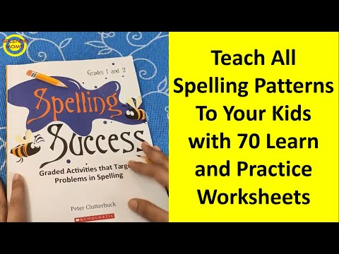 बच्चे को सभी Spelling Patterns सिखाएं || Learn All English Spelling Patterns with 70 worksheets