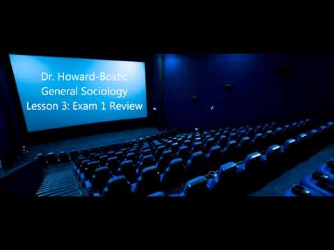 Dr. Howard-Bostic: General Sociology: Lesson 3: SOCI Exam 1 Review
