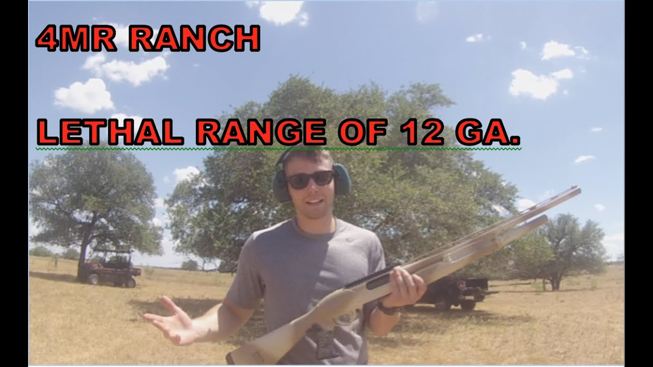 Testing Lethal Range of Shotguns