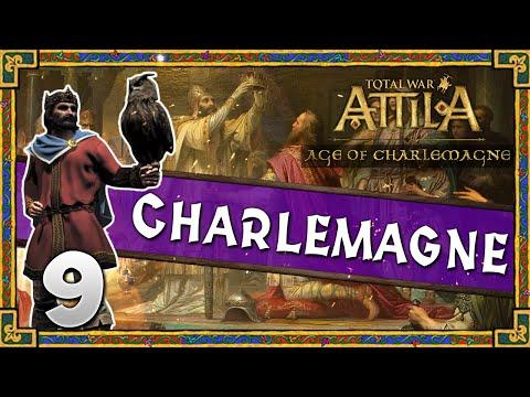 Total War: Attila - Age of Charlemagne - Kingdom of Charlemagne Campaign #9 ~ Breaking Barcelona!