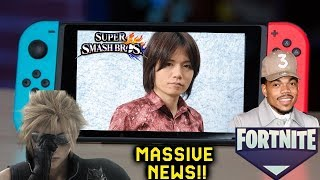 Massive Nintendo News: Sakurai New Game -Chance The Rapper Wants Fornite On Switch & Cloud Redesign