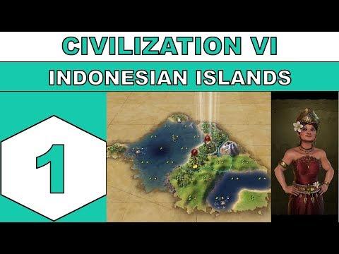Let's Play Civilization VI - Indonesian Islands - Episode 01