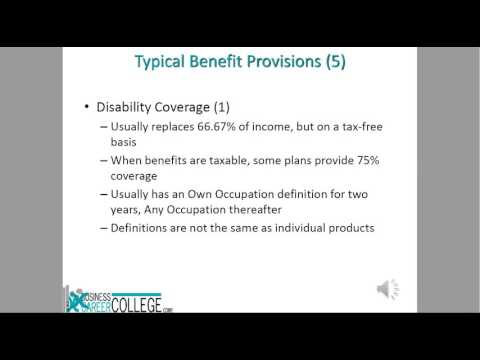 Structure of Benefits Plans - Typical Benefit Provisions