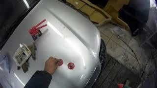 клеевой ремонт капота