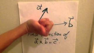 Right-hand rule for ve¢tor cross product