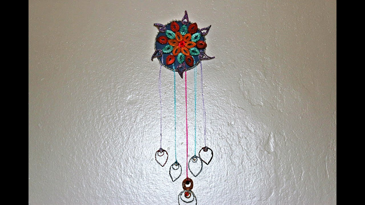 recycled wall hanging craft made out of waste cardboard