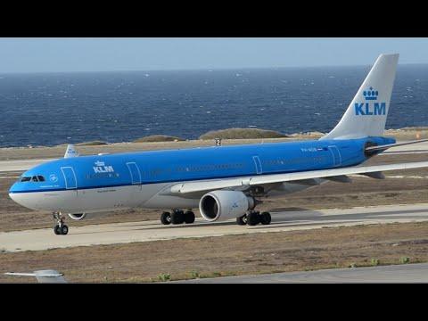 KLM Airbus A330-200 PH-AOB Landing @ Curacao