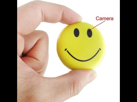 The Smile Face Badge Spy Camera Setup Instructions And Review