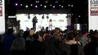 Stephanie singing Grenade Warchild 538 Den Bosch 11 maart 2012