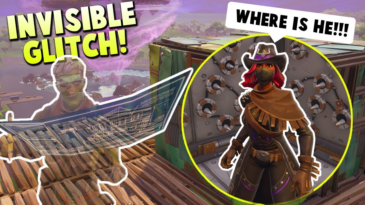 Trolling Kids While INVISIBLE in Random Fortnite Playground Games
