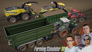 Farming Simulator 17 MP ☆ Cięcie Topoli na 2x Sieczkarnie #4 Saitek ㋡ MafiaSolecTeam