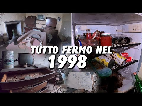 LA CASA RIMASTA CONGELATA NELL'ANNO 1998! UN VIAGGIO NEL TEMPO DEI NOSTRI ANTENATI! [Urbex Italia]