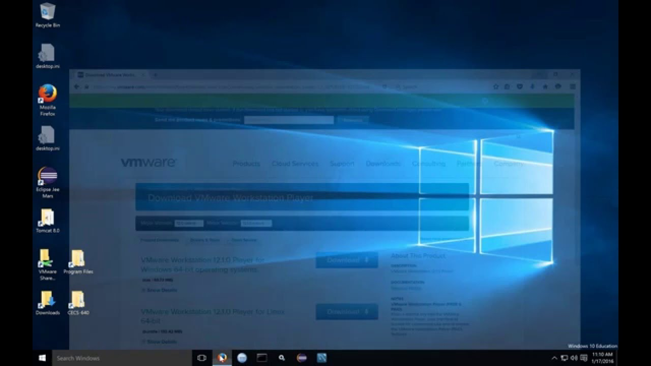 How to Install VMware Workstation Player on Windows 10