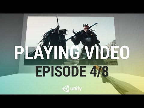 Playing Video In Unity - Playing and Pausing [4/8] Live 2017/7/12