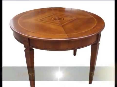 Tavolo tavoli classici rotondi ovali su misura apribili allungabili roma milano monza brianza ...