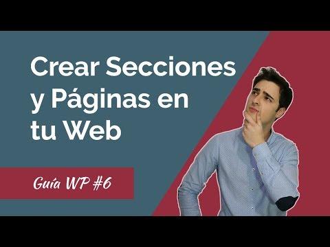 Descargar video de Cómo Crear Secciones y Páginas en tu WEB con WordPress