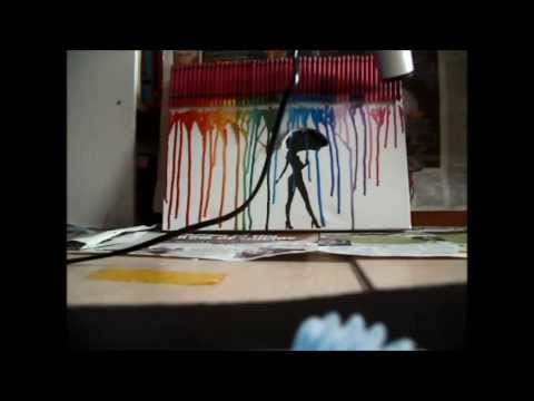 Diy crayon art with a silhouette youtube diy crayon art with a silhouette solutioingenieria Image collections