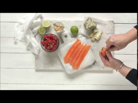 Regal Artisan Salmon, Raspberry & Blue Cheese Canapés