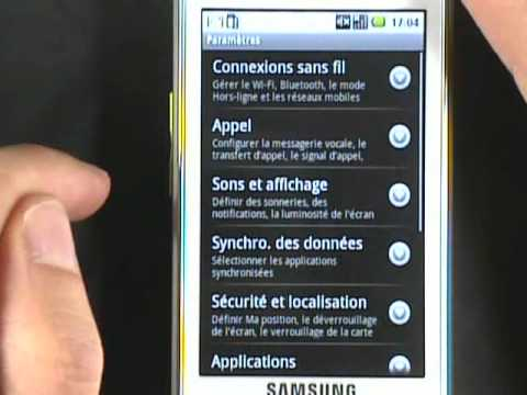 Test video Samsung Galaxy Spica GT-i5700 par DIGIMAGZ.FR