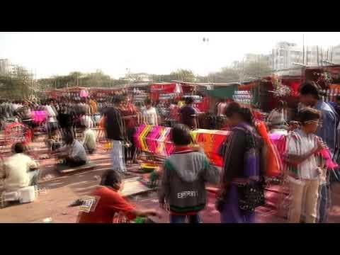 Kite festival in Ahmedabad, Gujarat..