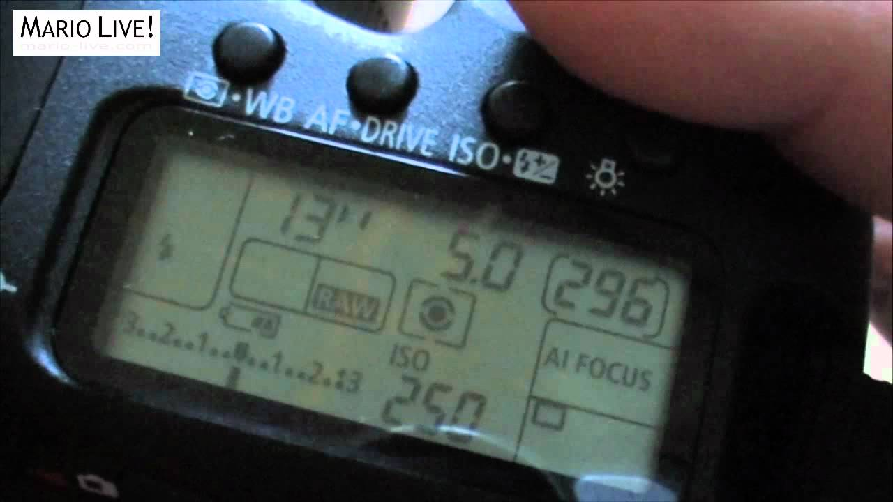 MY Basic Settings On The Canon 7D