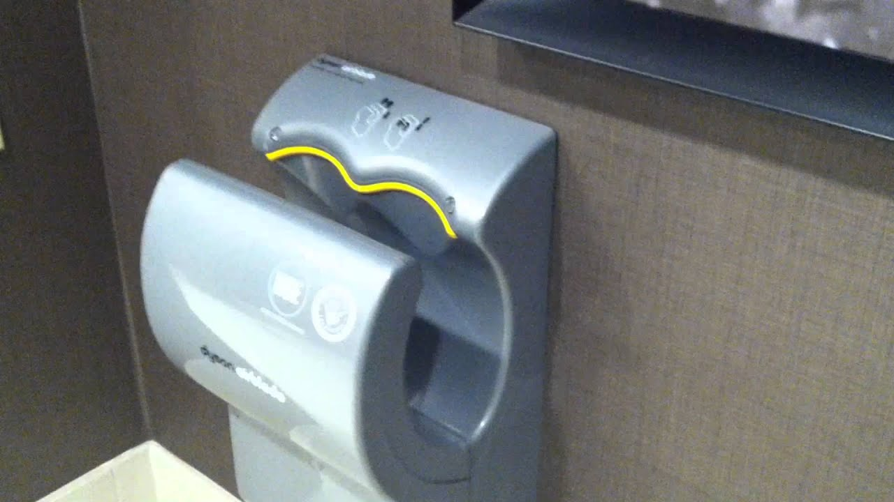 Demo Of A Dyson Hand Dryer In Mens Restroom At Hotel In Fayetteville, NC    YouTube