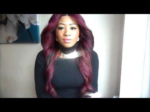 burgundy new hair colour youtube
