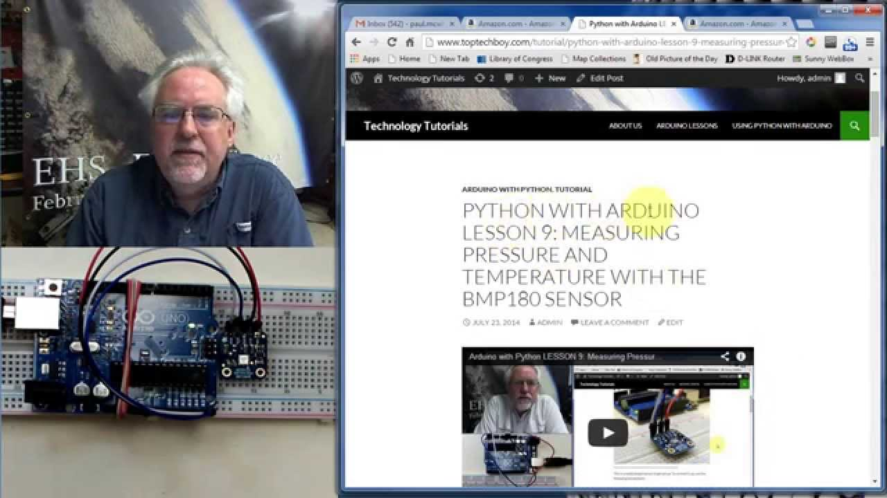 Python with Arduino LESSON 11: Plotting and Graphing Live Data from