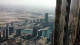 View from Atmosphere Lounge on the 123th Floor of Burj Khalifa - Dubai, UAE
