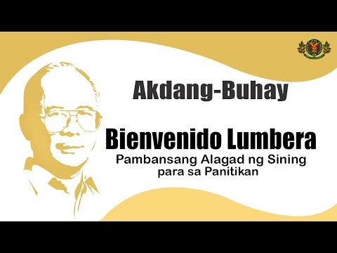 buenvenido lumbera The show features the works of 3 national artists: bienvenido lumbera wrote the librettos, rolando s tinio translated lumbera's words to english (subtitles) and salvador bernal designed both costumes and the set.