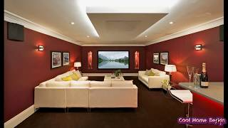 Gray and Dark Brown Living Room