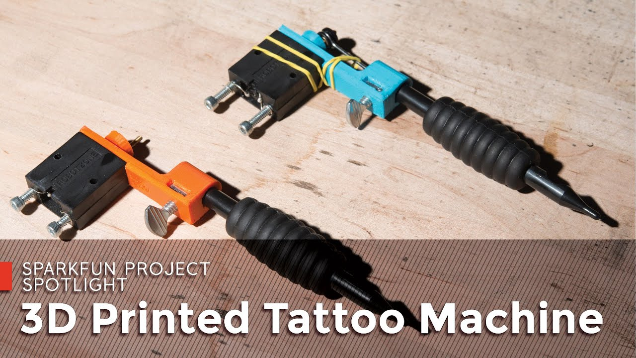 SparkFun 3D Printed Tattoo Machine - YouTube